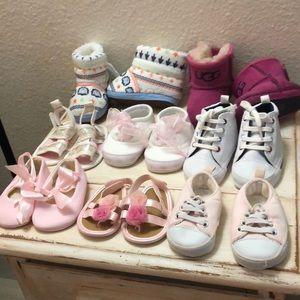 Other - NEWBORN INFANT BABY SHOE BUNDLE 0-6 mos